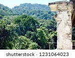 ancient mayan stone wall in... | Shutterstock . vector #1231064023