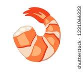 vector shrimp vector on white... | Shutterstock .eps vector #1231066333