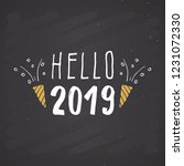 new year greeting card  hello... | Shutterstock .eps vector #1231072330
