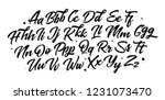 hand drawn typeface set. brush... | Shutterstock .eps vector #1231073470