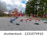 colourful durable playground... | Shutterstock . vector #1231074910