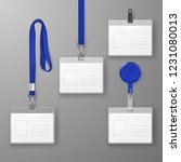 vector realistic blank office... | Shutterstock .eps vector #1231080013