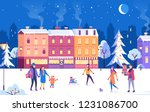 christmas holidays celebration... | Shutterstock .eps vector #1231086700