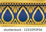 seamless golden ornamental...   Shutterstock .eps vector #1231093936