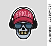 cool skull in a cap and... | Shutterstock .eps vector #1231094719