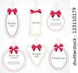 discount tags | Shutterstock . vector #123110179