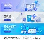 web banner illustration of... | Shutterstock .eps vector #1231106629