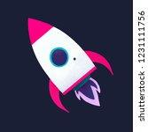 rocket social media icon vector | Shutterstock .eps vector #1231111756