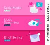 social media application banner ... | Shutterstock .eps vector #1231114573