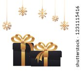 merry christmas decoration | Shutterstock .eps vector #1231115416