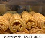 tasty palmie in bakery shop | Shutterstock . vector #1231123606
