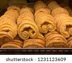 tasty palmie in bakery shop | Shutterstock . vector #1231123609