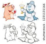 vector illustration of a cute... | Shutterstock .eps vector #1231131166