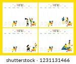 set of colored vector...   Shutterstock .eps vector #1231131466