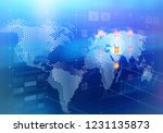 global media technologies.... | Shutterstock . vector #1231135873