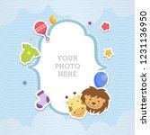 cute animal baby shower theme... | Shutterstock .eps vector #1231136950