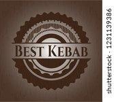 best kebab wooden emblem | Shutterstock .eps vector #1231139386