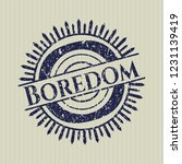 blue boredom distressed rubber... | Shutterstock .eps vector #1231139419