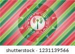 antenna signal icon inside... | Shutterstock .eps vector #1231139566