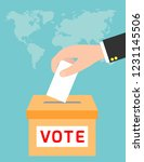 voting concept in flat style... | Shutterstock .eps vector #1231145506