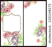 romantic wedding invitation... | Shutterstock . vector #1231148173
