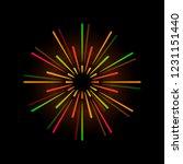 vibrant firework explosion... | Shutterstock .eps vector #1231151440