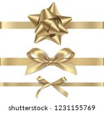 set of decorative golden bows... | Shutterstock .eps vector #1231155769