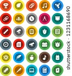 white solid icon set  pen... | Shutterstock .eps vector #1231168690