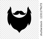 mustache  beard  isolated... | Shutterstock .eps vector #1231179673