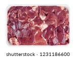 chicken liver in tray. studio...   Shutterstock . vector #1231186600