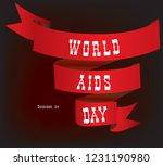 vintage ribbon banner world... | Shutterstock .eps vector #1231190980
