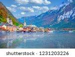hallstatt  austria   famous... | Shutterstock . vector #1231203226