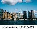 modern urban setting... | Shutterstock . vector #1231204279