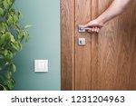 Open the door. hand on door...