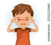 little crying boy. children's... | Shutterstock .eps vector #1231212460