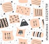 cute vector seamless pattern... | Shutterstock .eps vector #1231219759