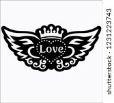love vector logo icon for... | Shutterstock .eps vector #1231223743