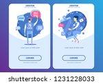 flat design modern vector... | Shutterstock .eps vector #1231228033