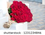 Small photo of Large bouquet of 101 red rose.