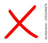 x marks .two red crossed vector ... | Shutterstock .eps vector #1231236676