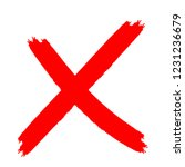 x marks .two red crossed vector ... | Shutterstock .eps vector #1231236679