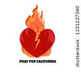 vector illustration. wildfires  ...   Shutterstock .eps vector #1231237360