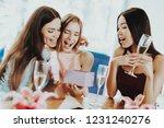 beautiful girl happy time...   Shutterstock . vector #1231240276