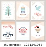 merry christmas and happy... | Shutterstock .eps vector #1231241056
