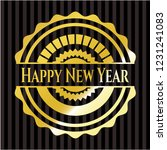 happy new year golden emblem | Shutterstock .eps vector #1231241083