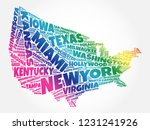usa map word cloud collage with ...   Shutterstock . vector #1231241926