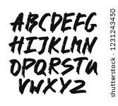 alphabet letters.black... | Shutterstock .eps vector #1231243450