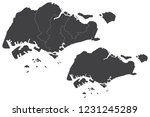 map   singapore couple set  ... | Shutterstock .eps vector #1231245289