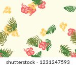 tropical background. green ... | Shutterstock .eps vector #1231247593