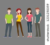teenagers character collection   Shutterstock .eps vector #1231250359